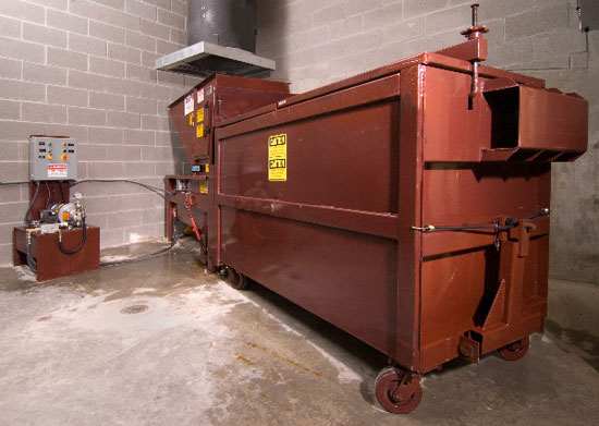Trash Chute Rubbish : Chutes compactors recycling systems d v brown