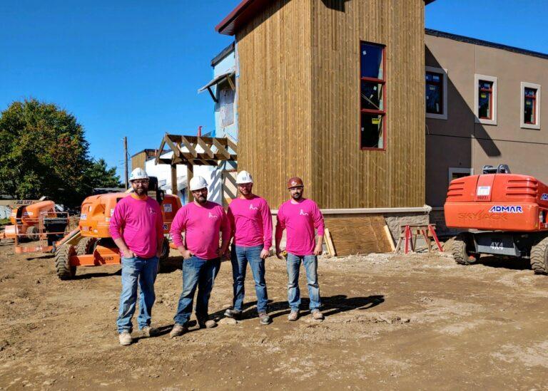 DVB guys rocking their Breast Cancer Awareness Shirts edit 2